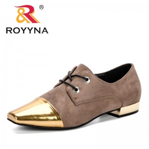 ROYYNA 2019 Pumps Woman Spring & Autumn Lower Heels Shoes Women Lace Up Footwear Work Shoes Ladies Party Dress Shoes J358-1