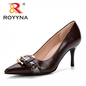 ROYYNA Autumn High Quality Sexy Women Pumps Pointed Toe Shoes Buckle Thin High Heels Wedding Shoes Pumps Party Shoes New Style