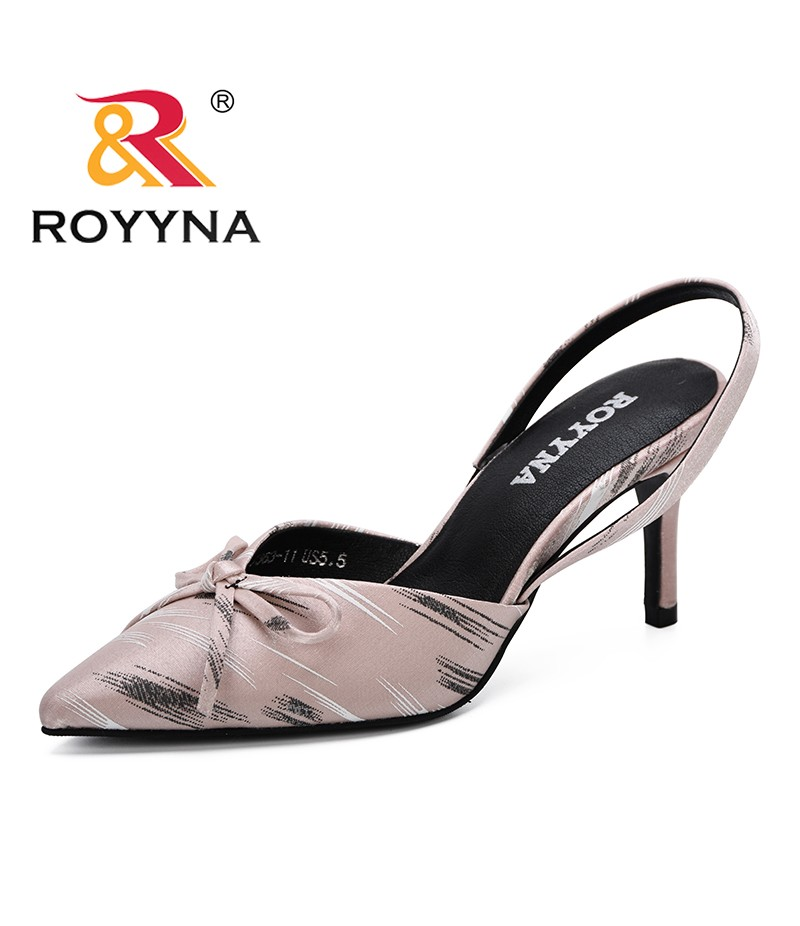 ROYYNA Women Sandals High Heels Shoes Ladies Sexy Summer 2019 Big Size Sandals Pointed Toe Buckle Strap Feminimo Fashion shoes