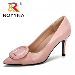 ROYYNA 2019 New Designer Top quality Women Pumps Pointed Toe Thin High Heels Pumps Nice Leather Shoes Woman Wedding Shoes Ladies
