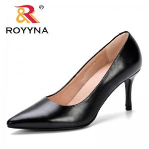 ROYYNA 2019 Spring Autumn Classics Women's Shallow Office Shoes New Arrival Concise Solid Pointed Toe Women Pumps Fashion Comfy