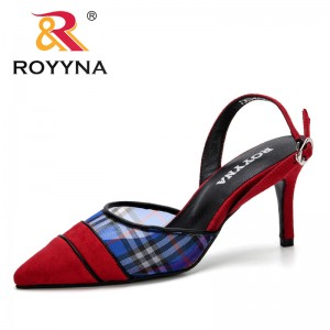 ROYYNA 2019 New Designer Fashion Style Heels Women Sandals Summer Shoes Women Pointed Toe High Heels Party Dress Sandals Trendy