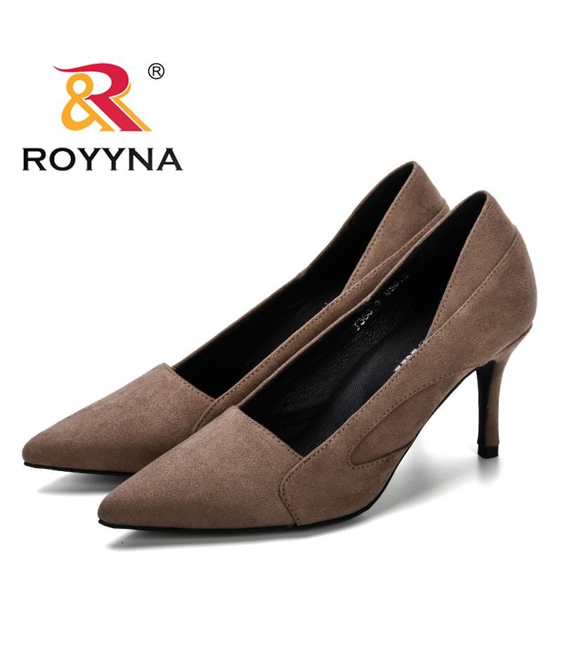 edf9cbb450f90 ROYYNA 2019 Spring Autumn Women Shoes Faux Suede Heels Women Pumps Stiletto  Women's Work Shoe Pointed Toe ...
