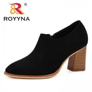 ROYYNA Designer Women Pumps High Heels Ladie Escarpins Femme 2019 Spring & Autumn Heel Shoes Trendy Comfortable Zapatos Mujer
