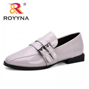 ROYYNA 2019 Spring & Autumn Lower Heels Shoes Women Pumps Patent Leather Single Woman Dress Shoes Round Toe Trendy Female Pumps