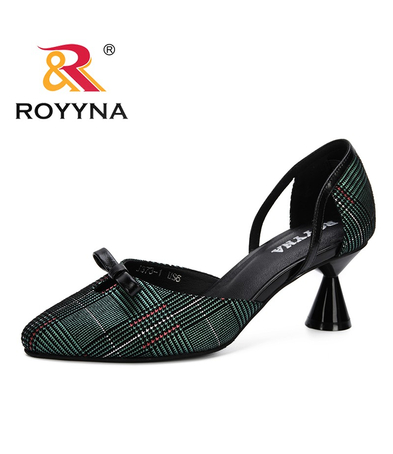 ROYYNA 2019 Women Pumps Two Piece High Heels Ladies Party Shoes Summer Feminimo Footwear Zapatos Mujer Sandals Female Trendy