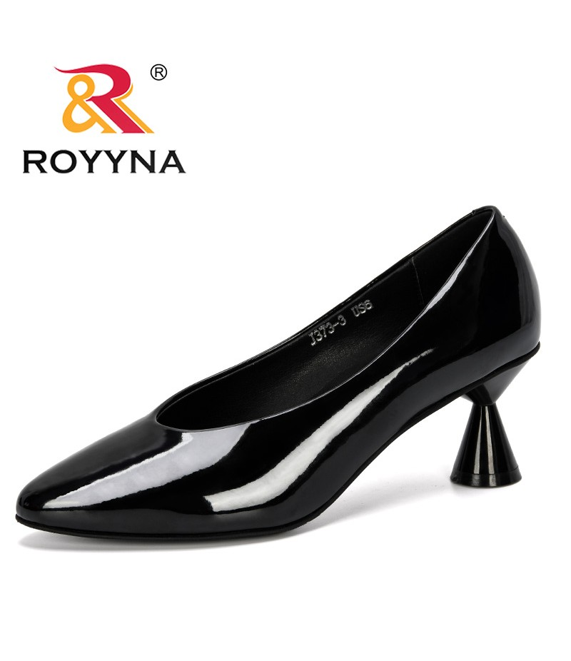 ROYYNA 2019 New Arrival Wonen Pumps Fashion Office Shoes Woman Sexy High Heels Shoes Women's Wedding Shoes Party Trendy Comfy
