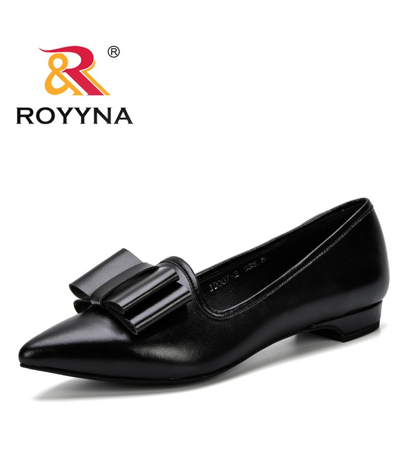 ROYYNA Ladies Shoes Black Pumps 2019 Spring Autumn Low Heel Shoe Women Office Shoes Elegant Women Wedding Party Shoes Feminimo