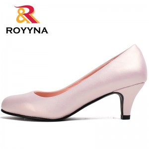 ROYYNA Spring Autumn Chinese Shoes manufacture  Pumps Women Big Size Fashion Sexy Round Toe Sweet Colorful Soft Women Shoes Free Shipping