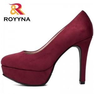 ROYYNA Autumn New Arrival Popular Style Women Pumps Big Size 35-43 Flatform High Heels Zapato De Tacon Alto Party Shoes