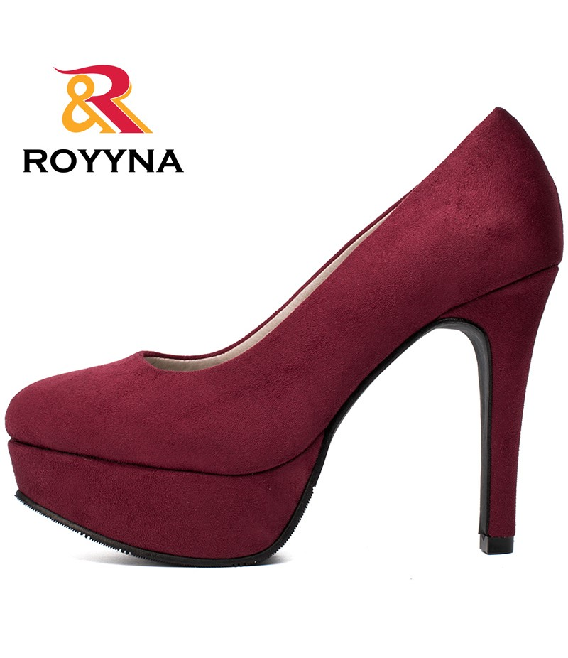 ROYYNA Autumn New Arrival Popular Style Women Pumps Big Size 35-43 Flatform High Heels Zapato De Tacon Alto Party Shoes