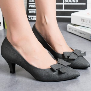 ROYYNA2017 Sweet New Style Women Pumps Shallow Thin Heels Women Casual Shoes Pointed Toe Synthetic Women Shoes Zapatos Mujer