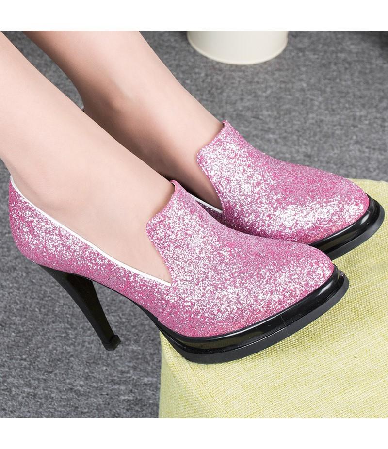 ROYYNA New Style Women Sheos Shallow Women Pumps High Heels Women Casual Shoes Round Toe Women Wedding Shoes Free Shipping