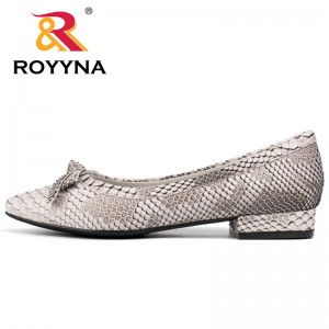 ROYYNA Butterfly-Knot Women Pumps Pointed Toe Women Shoes Square Heels Pumps Serpentine Novety Women Casual Shoes Wholesale