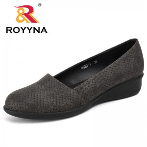 ROYYNA New Style Women Flats Shoes Shallow Women Shoes Serpentine Women Casual Shoes Slip-On Women Dress Shoes Wholesale