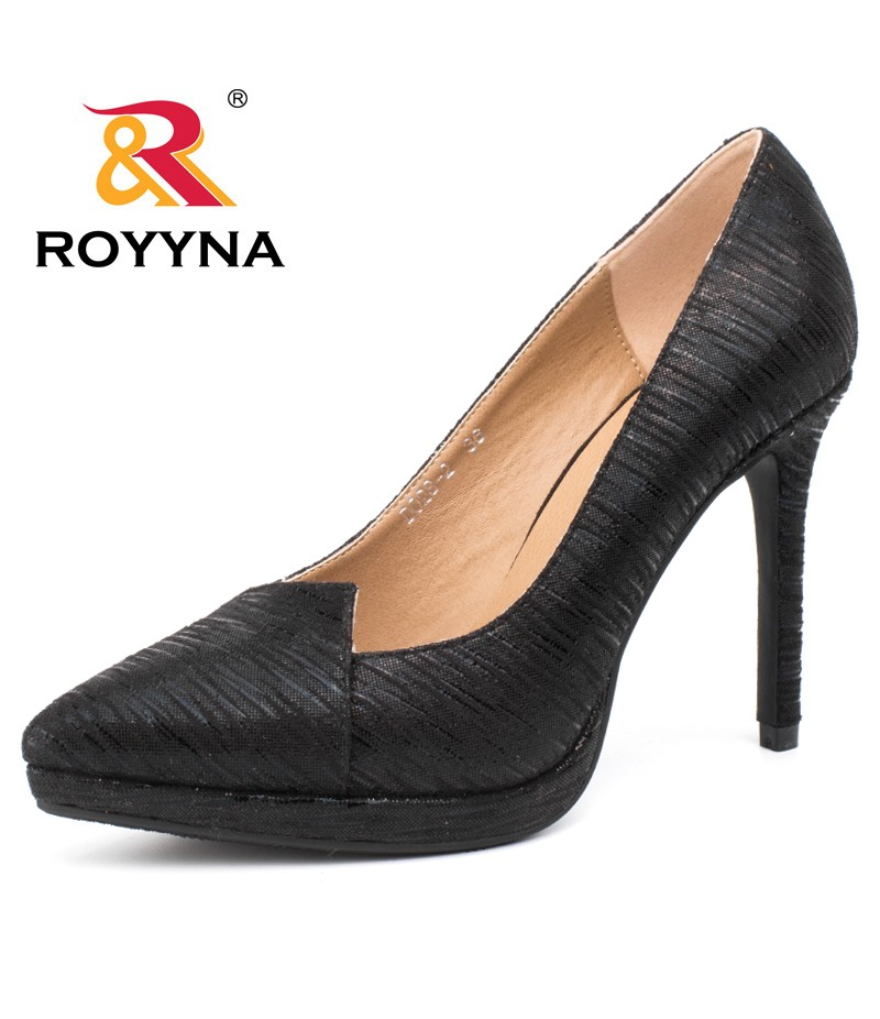 ROYYNA New Arrival Women Pumps Platform Thin high Heels Women Wedding Shoes Pointed Toe Women Shoes Fast Free Shipping