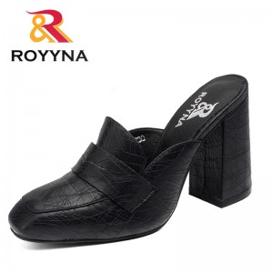 ROYYNA New Arrival Fashion Style Women Slippers Outdoor Walking Summer Shoes High Square Heels Comfortable Fast Free Shipping
