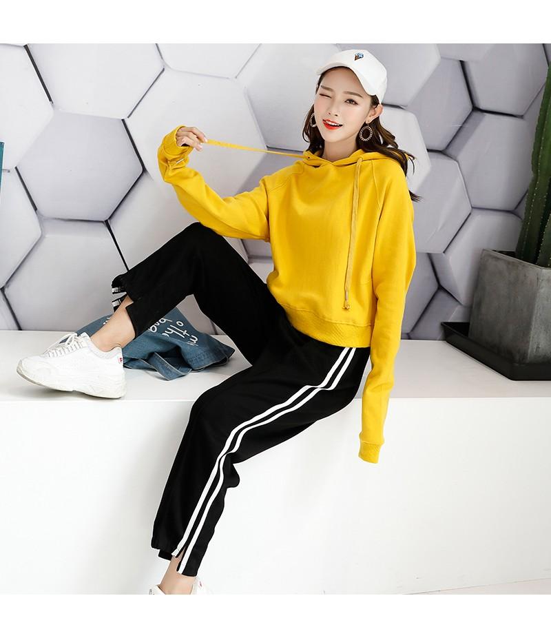 2018秋季新款网红韩版俏皮女连帽长袖卫衣运动套装时尚女装潮