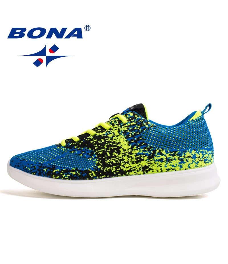 BONA New Classics Style Men Running Shoes Lace Up Men Sport Shoes Outdoor Jogging Sneakers Comfortable Men Shoes Free Shipping