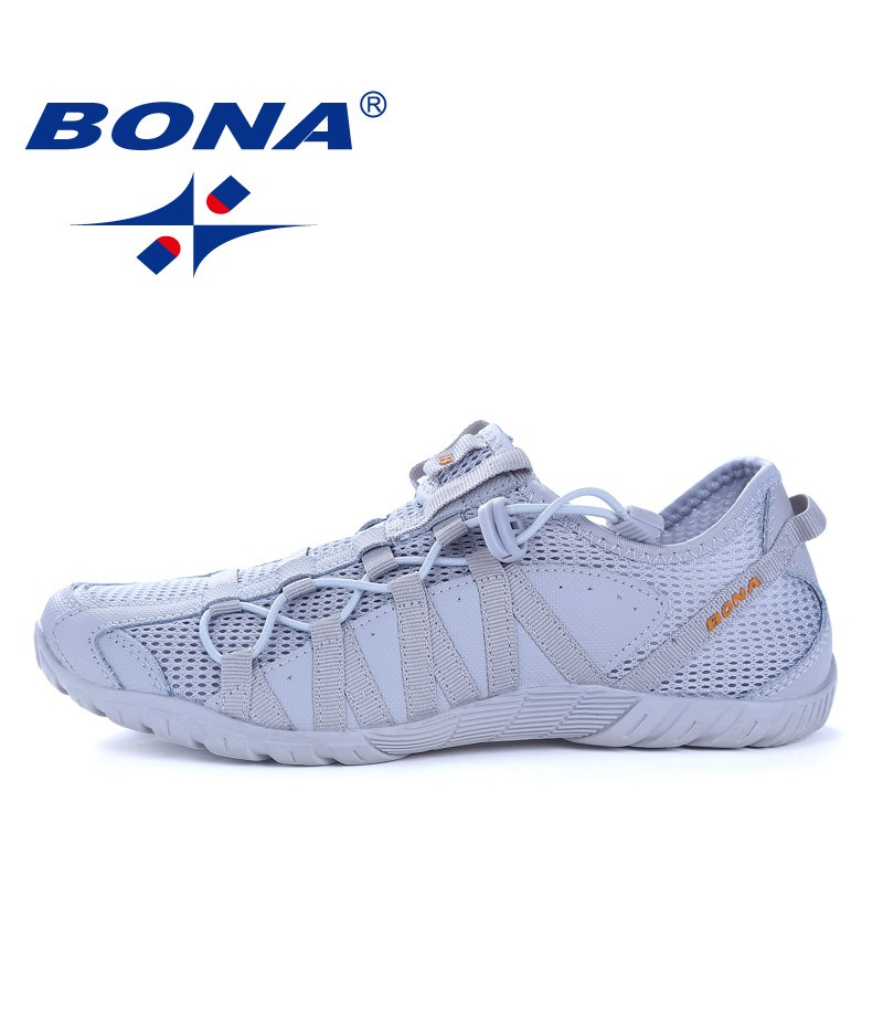 BONA Shoes made in China Men Running Shoes Lace Up Athletic Shoes Outdoor Walkng jogging Sneakers Comfortable Fast Free Shipping