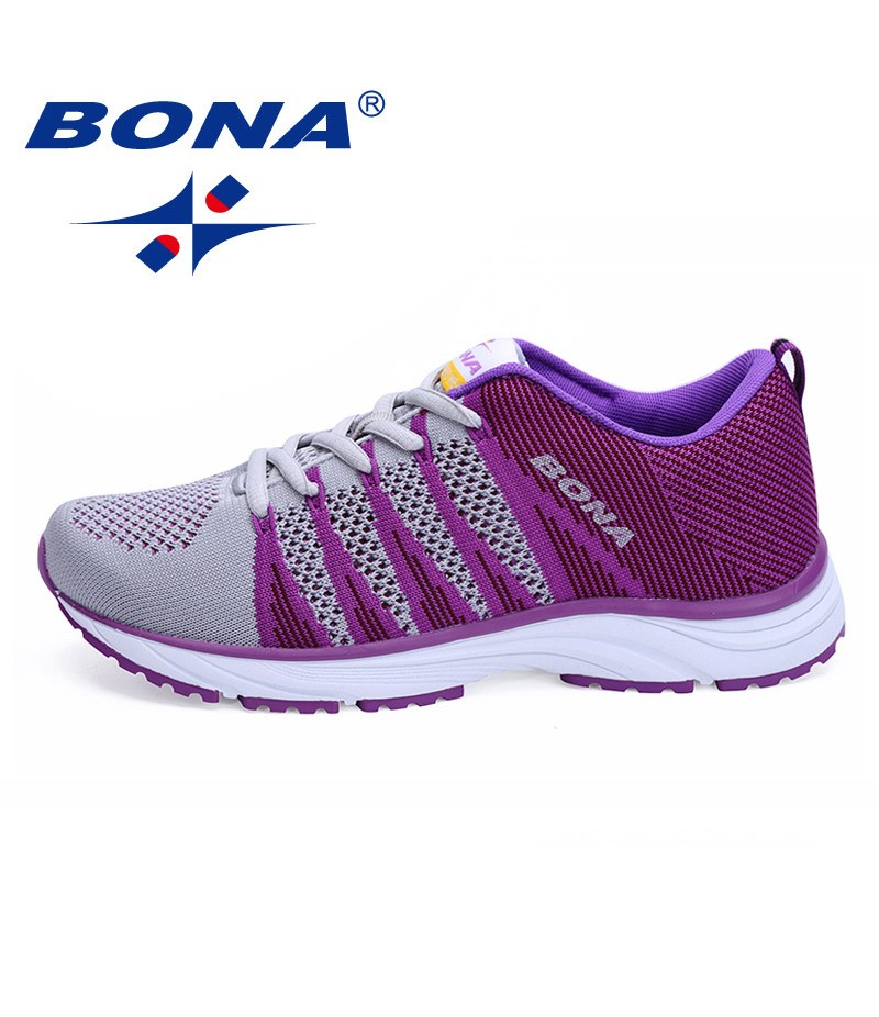 BONA Chinese Shoes Women Running Shoes Outdoor Walking Jogging Sneakers Lace Up Mesh Athletic Shoes soft Fast Free Shipping