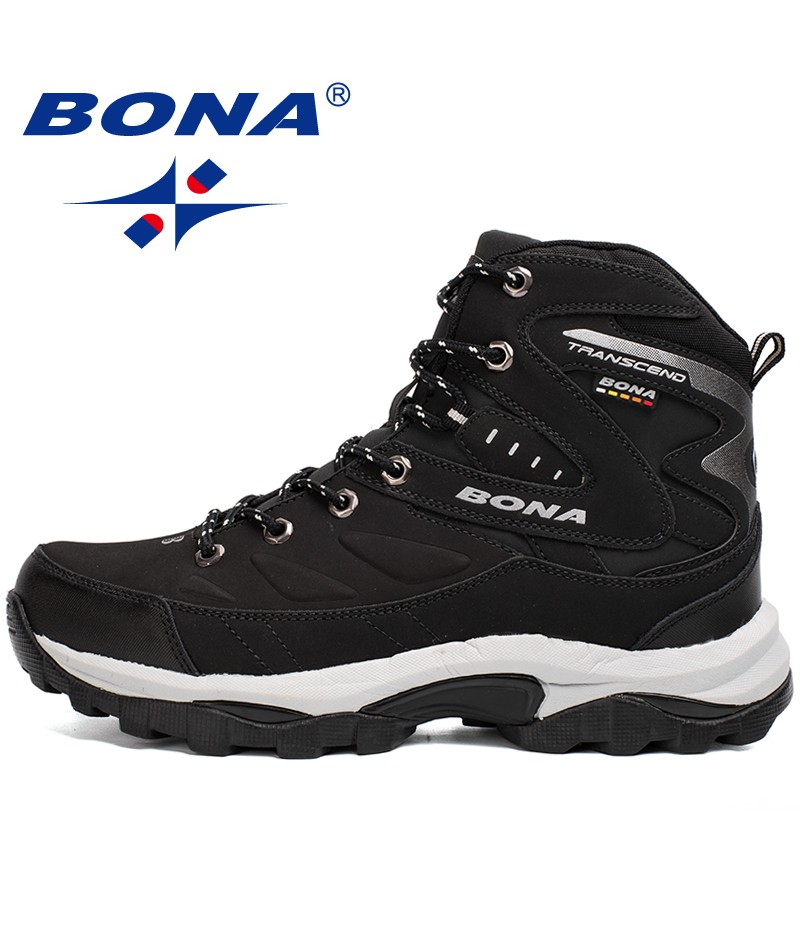 BONA China Shoes  Men Hiking Shoes Winter Outdoor Walking Jogging Shoes Mountain Sport Boots Climbing Sneakers Free Shipping
