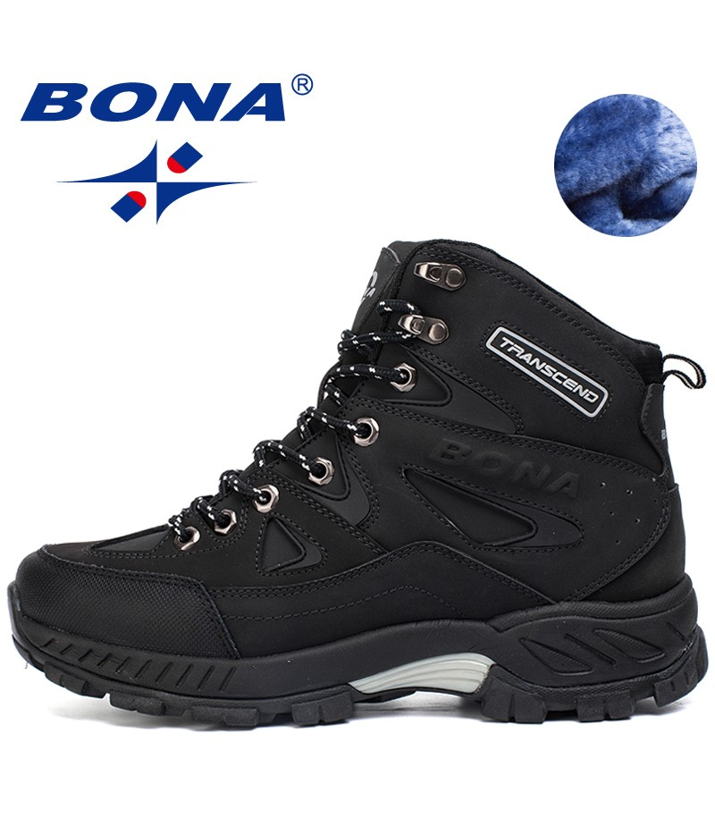 BONA New Arrival Men Hiking Shoes Anti-Slip Outdoor Sport Shoes Walking Trekking Climbing Sneakers Zapatillas Comfortable Boots