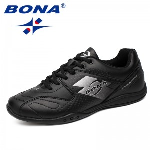 BONA  Chinese Shoes manufacture  Men Walking Shoes Lace Up Men Shoes Outdoor Jogging Sneakers Comfortable Soft Men Athletic Shoes