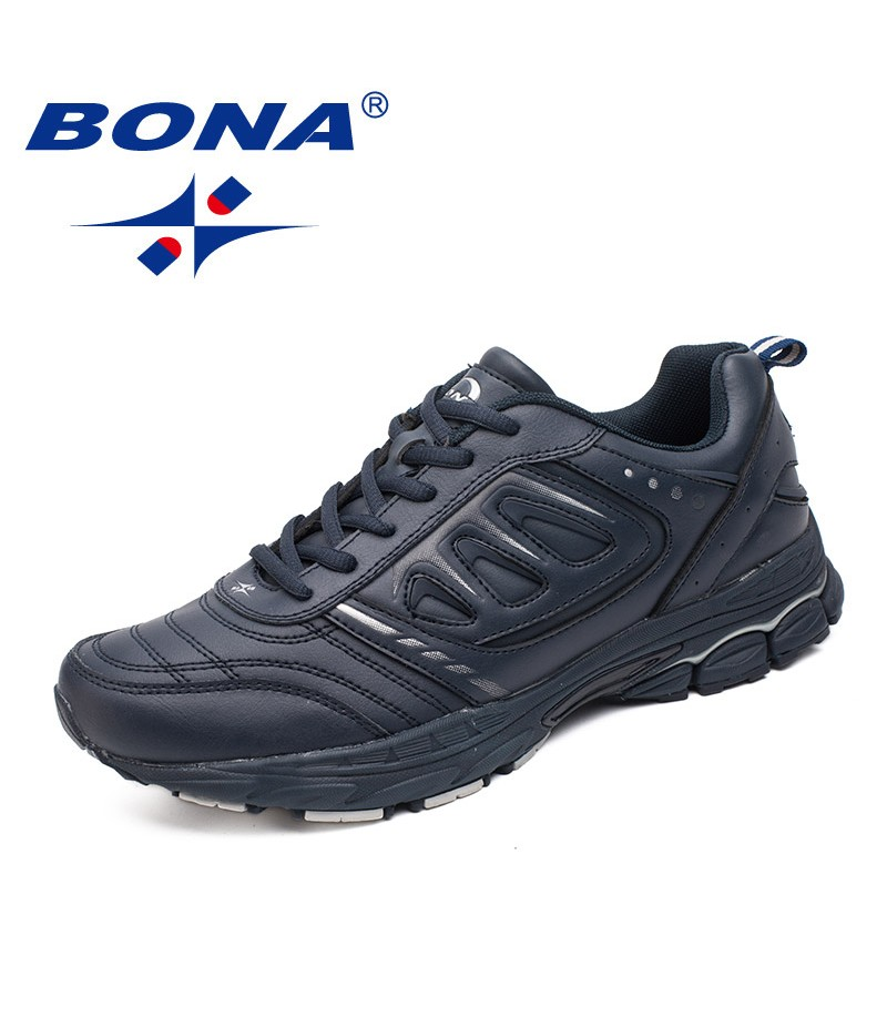 BONA Chinese Shoes manufacture Men Running Shoes Ourdoor Jogging Trekking Sneakers Lace Up Athletic Shoes Comfortable Light Soft Free Shipping