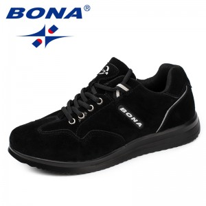 BONA  Chinese Shoes manufacture  Men Walking Shoes Lace Up Men Sport Shoes Outdoor Jogging Sneakers Comfortable Light Soft Free Shipping