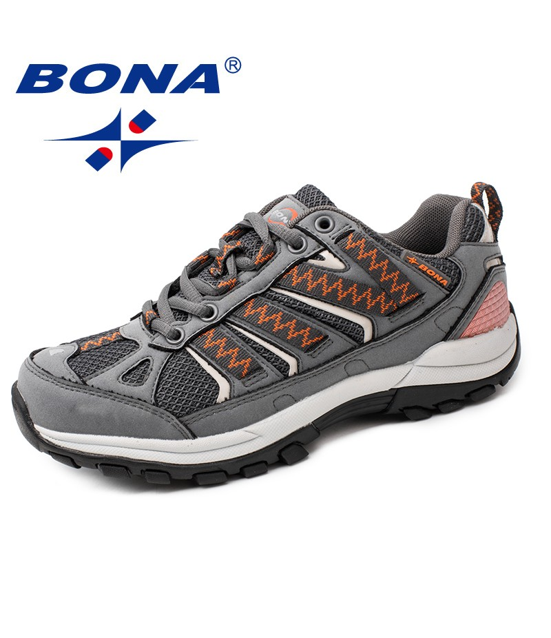 BONA New Arrival Typical Style Women Hiking Shoes Lace up Women Sport Shoes Outdoor Jogging Sneakers Comfortable Free Shipping