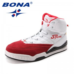 BONA New Arrival Classics Style Men Skateboarding Shoes Outdoor Physical Jogging Sneakers High Upper Men Athletic Shoes