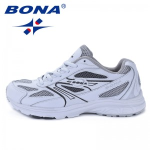 BONA China Shoes  Women Running Shoes Breathable Upper Outdoor Walking Jogging Sport Shoes Comfortable Ladies Sneakers