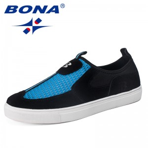 BONA New Arrival Leisure Style Men Skateboarding Shoes Slip-On Mesh Upper Sneakers Outdoor Walking Jogging Shoes Free Shipping