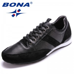 BONA  Chinese Shoes manufacture Men Walking Shoes Lace Up Men Shoes Outdoor Jogging Sneakers Microfiber Men Loafers Light Soft Fast Free Shipping
