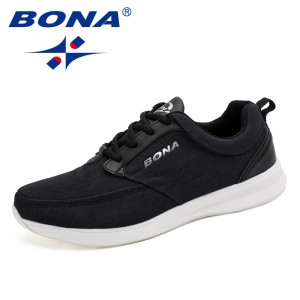 BONA  Chinese Shoes manufacture  Men Walking Shoes Lace Up Men Shoes Outdoor Jogging Shoes Comfortable Sneakers Free Shipping