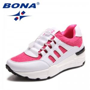 BONA New Arrival Classics Style Women Walking Shoes Lace Up Women Sport Shoes Mesh Outdoor Jogging Sneakers Fast Free Shipping