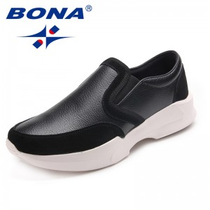BONA New Arrival Classics Men Walking Shoes Slip-On Men Loafers Suede Men Flats Comfortable Male Sneakers Fast Free Shipping