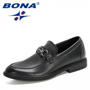 BONA 2020 New Designers Fashion Business Dress Loafers Shoes Men Breathable Formal Wedding Shoes Man Office Work Shoes Masculino