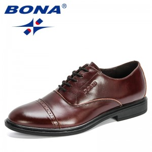 BONA 2020 New Designers Fashion Men Shoes Formal Dress Casual Leather Shoes Man Business Wedding Loafers Office Shoes Mansculino