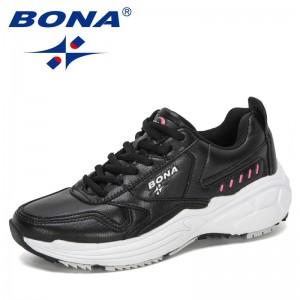 BONA 2021 New Designers Classics Sneakers Running Shoes Women Outdoor Sports Shoes Comfortable Running Shoes Ladies Walking Shoe