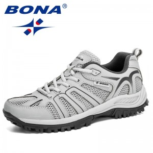 BONA 2020 New Arrival Mesh Running Shoes Men Trendy Sneaker Non-Slip Wear-Resistant Outdoor Walking Men Sport Shoes Comfortable