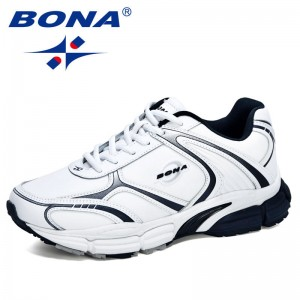 BONA 2020 New Designers Action Leather Trendy Running Shoes Men Outdoor Sneakers Man Walking Jogging Shoes Athletic Footwear