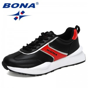 BONA 2021 New Designers Classic Sneakers Men Casual Shoes Breathable Lace Up Casual Shoes Man  Walking Footwear Chaussure Homme