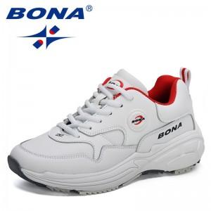 BONA 2021 New Designers Classics Retro Sports Shoes Women Casual Sneakers Running Shoes Ladies Vulcanized Tennis Jogging Shoes