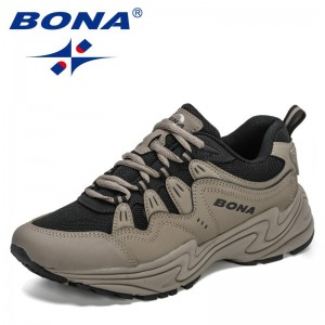 BONA 2021 New Designers Action Leather Men's Sneakers Fashion Running Shoes Man Sport Jogging Walking Footwear Mansculino Comfy