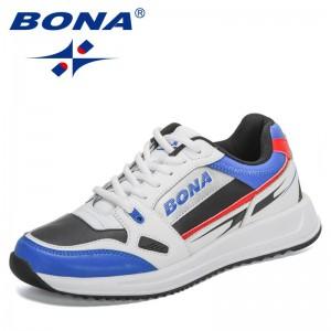 BONA 2021 Bew Designers Trendy Sneakers Men Fashion Casual Shoes Man Luxury Shoes Brand Leisure Footwear Outdoor Soft Mansculino