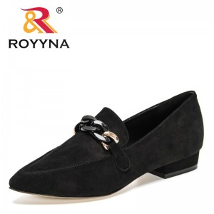 ROYYNA 2021 New Designers Genuine Leather Pumps Women High Quality Sweet Party Causal Shoes Ladies Fashion Single Shoes Woman