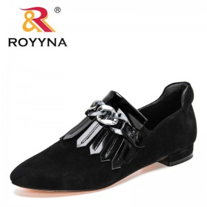 ROYYNA 2021 New Designers Round Toe Soft Genuine Leather Women Pumps Shoes Spring Summer Basic Female Fashion Comfortable Pumps