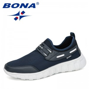 BONA 2021 New Designers Breathable Mesh Men Shoes Sneakers Spring High Quality Shoes Man Leisure Footwear Male Zapatillas Hombre